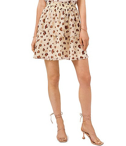 1. STATE Floating Leopard Tiered Skirt