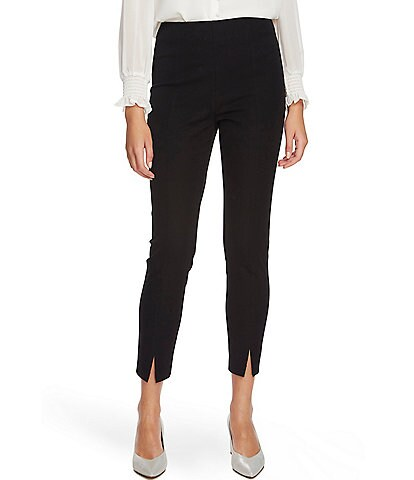 1. STATE Front Slit Stretch Twill Flat Front Pants