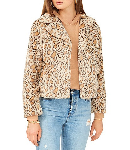 1. STATE Leopard Print Faux Fur Coat