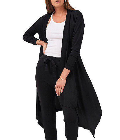 1. STATE Long Sleeve Drape Front Cozy Cardigan