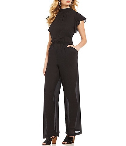 1. STATE Mock Neck Flutter Sleeve Jumpsuit