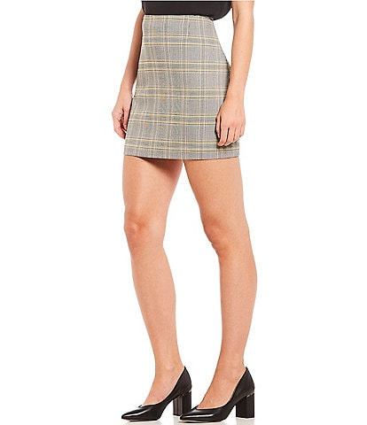 1. STATE Menswear Plaid Mini Skirt