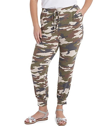 1. STATE Plus Size Pull-On Camouflage Jogger