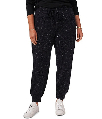 1. STATE Plus Size Sweater Printed Drawstring Joggers