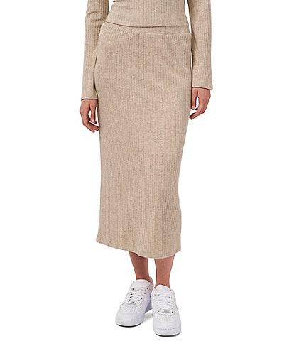 1. STATE Rib Knit Midi Coordinating Pencil Skirt