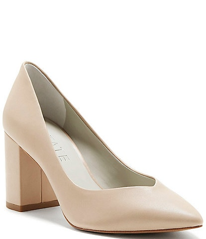1. State Saffy Leather Point Toe Pumps