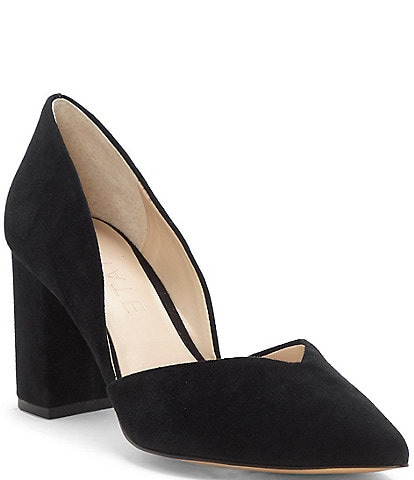 1. State Selim Suede Sweetheart Shaped Vamp Detail Pumps