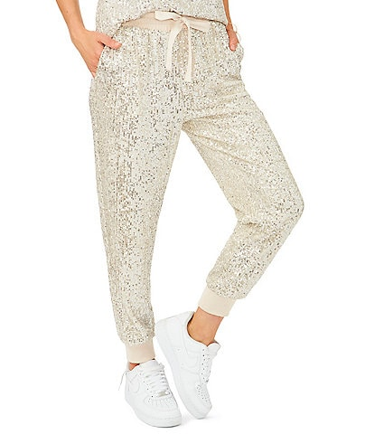 1. STATE Sequin High Rise Drawstring Joggers