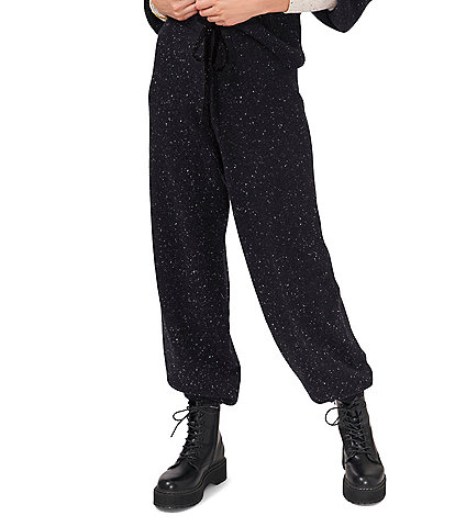 1. STATE Speckled Sweater Skinny Leg Elastic Drawstring Joggers