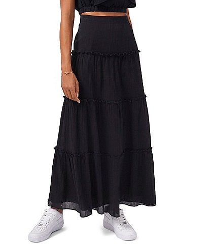 1. STATE Tiered High Rise Maxi Skirt