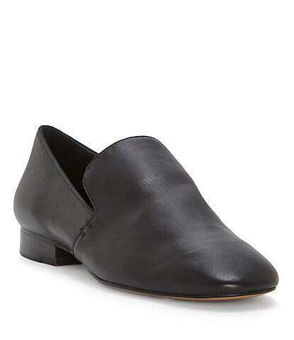 1. STATE Willasa Nappa Leather Stacked Heel Flats