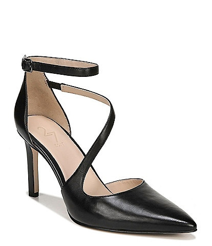 27 EDIT Abilyn Leather Ankle Strap Pumps