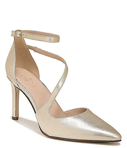 27 EDIT Abilyn Leather Ankle Strap d'Orsay Pumps