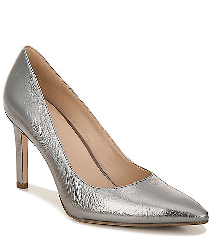 27 EDIT Alanna Metallic Leather Pumps