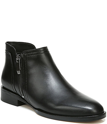 27 EDIT Capree Leather Block Heel Ankle Booties