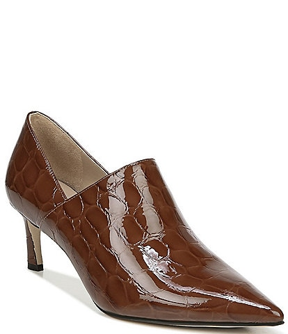 27 EDIT Fanfare Croc Embossed Leather Shooties