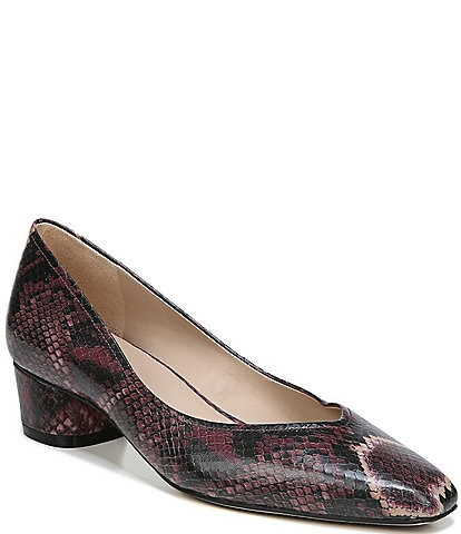 27 EDIT Geneva Snake Print Leather Dress Pumps