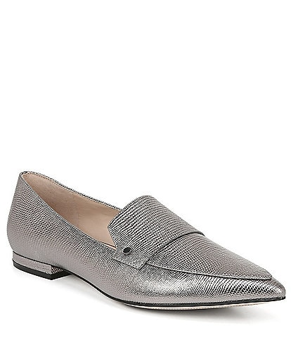 27 EDIT Harlie Lizard Embossed Leather Loafers