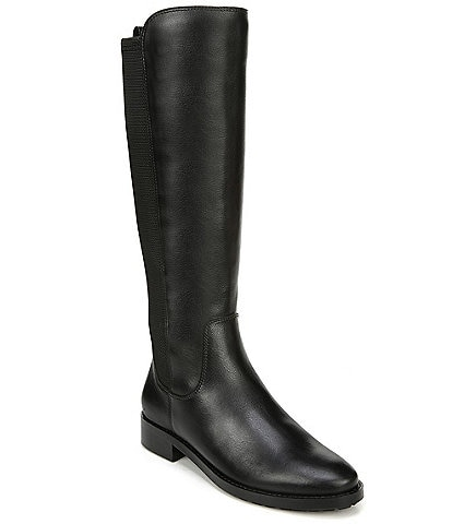 27 EDIT Kristi Wide Calf Leather and Fabric Tall Shaft Boots