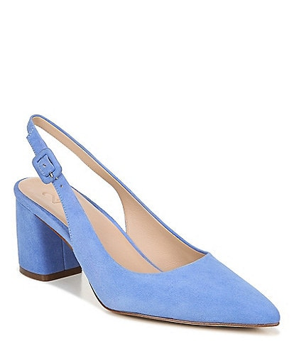 27 Edit Meera Suede Block Heel Slingbacks