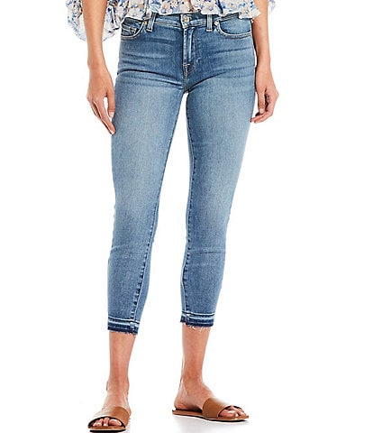 7 for all mankind Cropped Skinny Released Hem Jeans