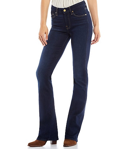 7 for all mankind Kimmie Stretch Denim Full Length Bootcut Jeans