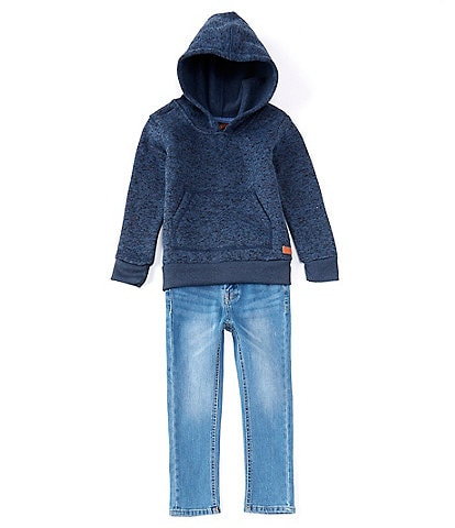 7 For All Mankind Little Boys 2T-4T Long-Sleeve Pull-Over Hoodie & Denim Jeans Set