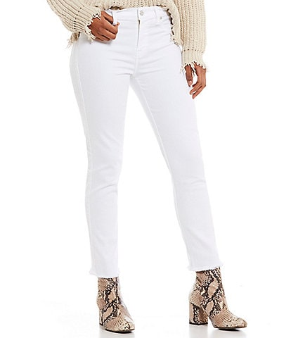 7 for all mankind Roxanne Ankle Frayed Hem Skinny Jeans
