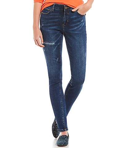 A loves A 5 Pocket Distressed High Rise Ankle Skinny Jean