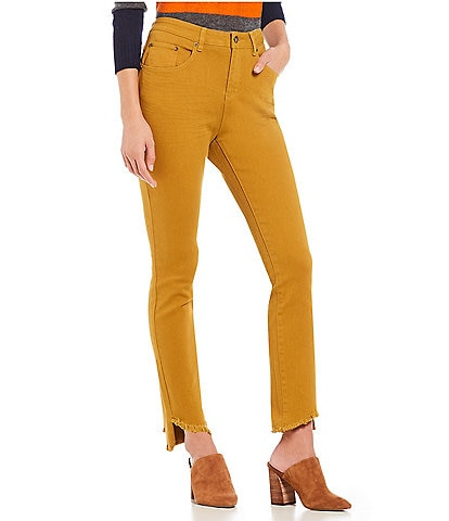 A Loves A 5 Pocket Step Up Frayed Hem Stretch Denim Jean