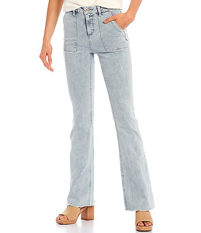 A Loves A Bootcut Mid Rise Stretch Denim Jeans