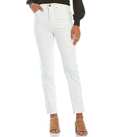 A Loves A Clean Hem Mid Rise Stretch Denim Skinny Jeans