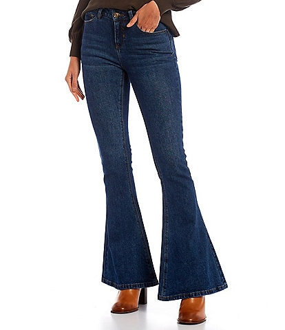 A Loves A Flare Double Pocket Mid Rise Bell Bottom Jeans