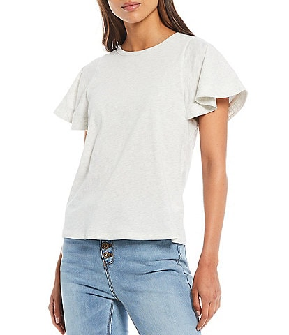 A Loves A Knit Flutter Sleeve Tee