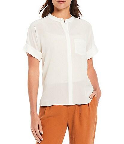 A Loves A Short Sleeve Button Down Silk Shirt