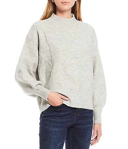 A Loves A Volume Sleeve Cable Sweater