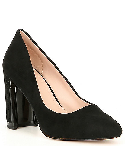 AD & Daughters Elodea Suede Block Heel Pumps