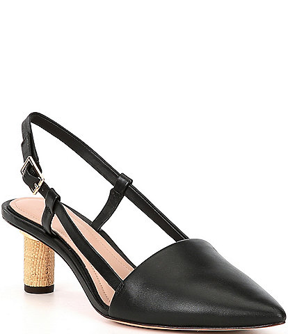 AD & Daughters Katsa Leather Slingback Pumps