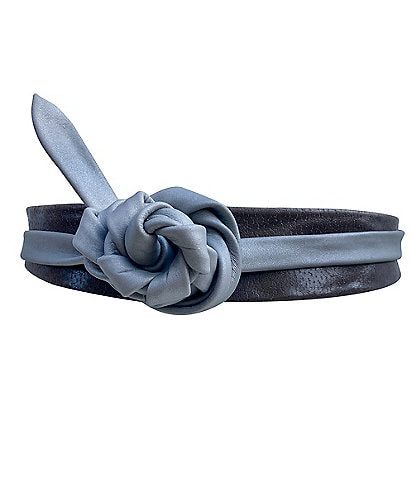 ADA 2#double; Midi Metallic Wrap Belt