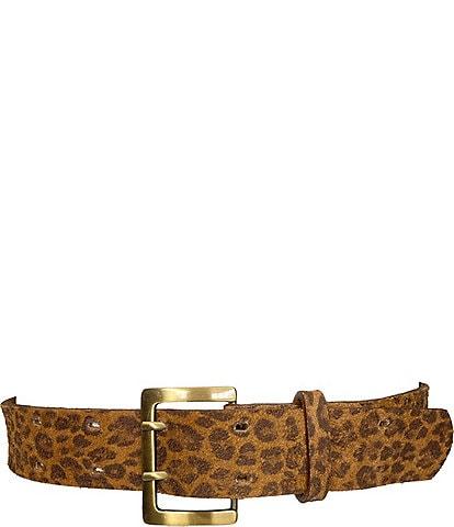 ADA Carmen 1.5#double; Carmen Cheetah Print Leather Belt
