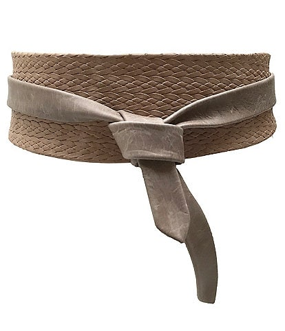 ADA Classic Leather Woven Wrap Belt