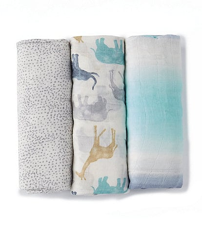 Aden + Anais Baby Expedition 3-Pack Swaddle Blankets