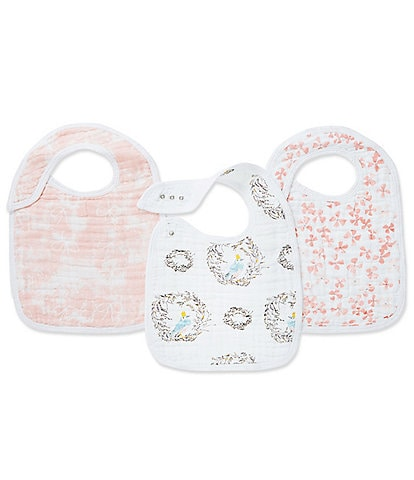 Aden Anais Baby Girls 3-Pack Birdsong Bib Set
