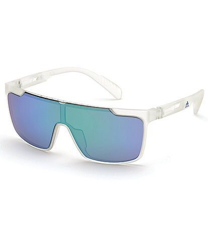 Adidas Sport 0020 Shield Polarized White Frame Sunglasses