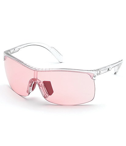 Adidas Women's SP0003 Shield Clear Frame Sunglasses