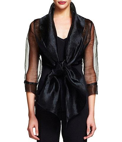 Adrianna Papell Organza Wrap Jacket