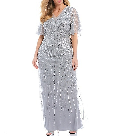 Adrianna Papell Plus Size Mother of the Bride Dresses ...