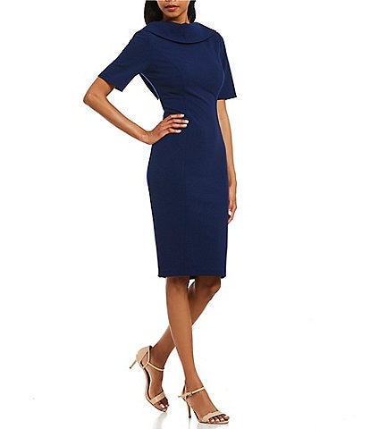Adrianna Papell V-Back Sheath Dress
