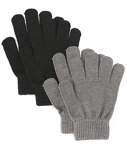 Adventure Wear by Class Club Boys Magic Sweater-Knit Cozy Gloves 2-Pack