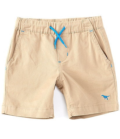 Adventure Wear by Class Club Little Boys 2T-7 Pull-On Dino Embroidered Twill Shorts